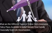 What are Different Types of Online Term Insurance Policy Plans India