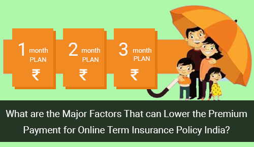 Know Which Factors Can Help to Lower Down Premium Payment for Online Term Insurance