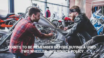Points to be Remember Before Buying a Used Two Wheeler- Insurance