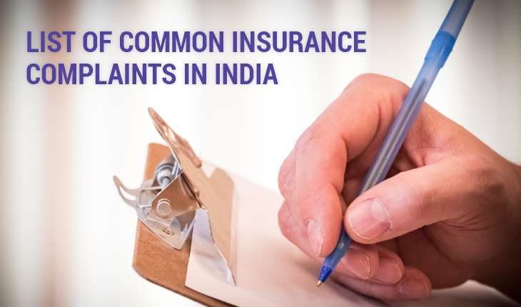 List of Common Insurance Complaints in India